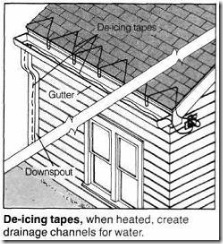 De-Icing Tapes - How To Control Ice And Snow On Your Roof